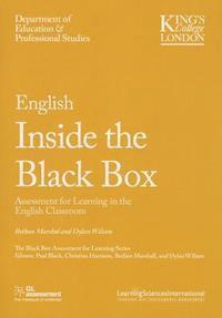 English Inside the Black Box: Assessment for Learning in the English Classroom (h�ftad)