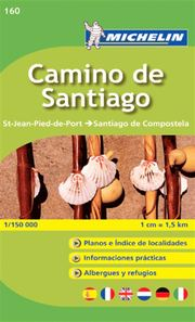 Camino de Santiago Zoom Map 160