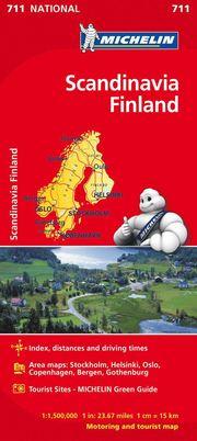 Scandinavia &; Finland National Map 711