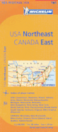 Michelin USA: Northeast, Canada: East Map 583 ()