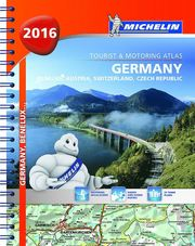 Germany Benelux Austria Switzerland Czech Republic- Michelin Tourist and Motoring Atlas