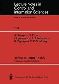 Topics in Coding Theory (inbunden)