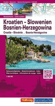 Kroatien Slovenien Bosnien Herzegowina Hallwag : 1:500000