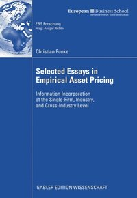 essays on rational asset pricing Essays in experimental asset pricing independent essays a representative agent with standard time separable utility and rational expectations.