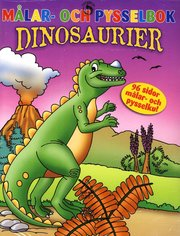Målar- och pysselbok Dinosaurier