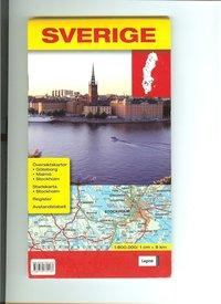Sverigekarta 1:800 000/ 1cm = 8km