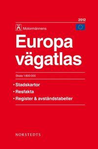 Europa V�gatlas 2012 Motorm�nnen:1:800000 (h�ftad)