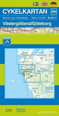 Cykelkartan Blad 12 V�sterg�tland/G�teborg : 1:90000