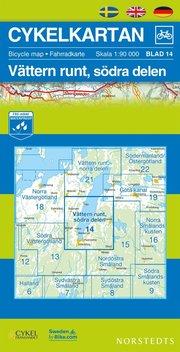 Cykelkartan Blad 14 Vättern runt södra delen : 1:90000