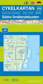 Cykelkartan Blad 9 Södra Smålandskusten : 1:90000