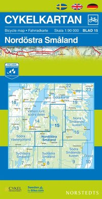 Cykelkartan Blad 15 Nord�stra Sm�land : 1:90000