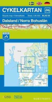 Cykelkartan Blad 20 Dalsland/Norra Bohusl�n : 1:90000