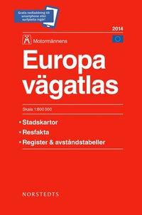 Europa v�gatlas 2014 Motorm�nnen - 1:800000 (h�ftad)