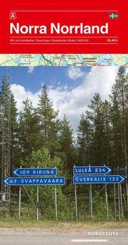 Norra Norrland Bil & Turistkarta Nr 6 : 1:400000