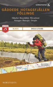 Outdoorkartan Gäddede Hotagsfjällen Föllinge : Blad 9 skala 1:75000