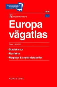 Europa v�gatlas 2016 Motorm�nnen : 1:800000 (h�ftad)