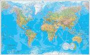 Världen väggkarta Laminerad 1:30 milj i tub : 1:30milj