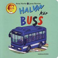 Halvan k�r buss (kartonnage)