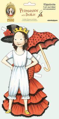 Klippdocka Tindra : Prinsessor och drakar (kartonnage)
