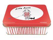 Lilla Anna – Plåtask : med stickers stämplar och anteckningsbok