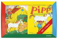K�nner du Pippi L�ngstrump?:Bok med tre leksaksfigurer (kartonnage)