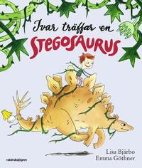 Ivar tr�ffar en Stegosaurus (kartonnage)