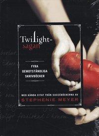 Twilightsagan : fyra oemotst�ndliga skrivb�cker med k�nda citat fr�n succ�b�ckerna (inbunden)