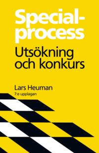 Specialprocess : uts�kning och konkurs (h�ftad)