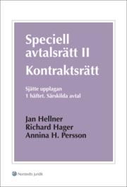 Speciell avtalsrätt II : kontraktsrätt. H. 1 Särskilda avtal