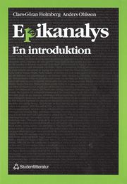 Epikanalys : En Introduktion