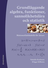Grundl�ggande algebra, funktioner, sannolikhetsl�ra och statistik - Matematikdidaktik f�r l�rare (h�ftad)