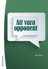 Att vara opponent (h�ftad)