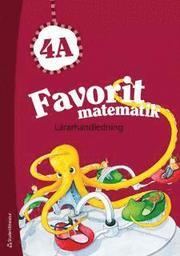Favorit matematik 4A – Lärarhandledning (Bok + digital produkt)