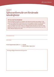 Dysartri – SOFT – Självsvarsformulär om förvärvade talsvårigheter