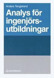 Analys för ingenjörsutbildningar