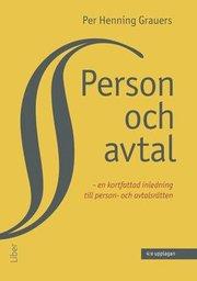 Person och avtal : en kortfattad inledning till person- och avtalsrätten