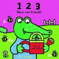 1 2 3 Lär dig räkna med Krokodil (kartonnage)