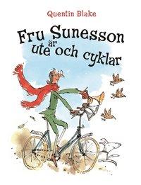 Fru Sunesson �r ute och cyklar (kartonnage)