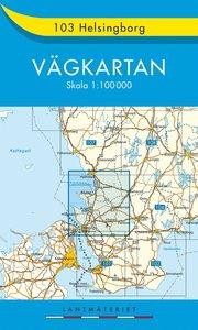 103 Helsingborg vägkartan : 1:100000