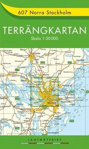 607 Norra Stockholm Terrängkartan : 1:50000