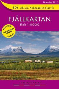 BD6 Abisko-Kebnekaise-Narvik Fj�llkartan:1:100000 (h�ftad)