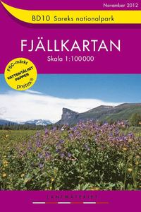 BD10 Sareks Nationalpark Fj�llkartan:1:100000 (h�ftad)