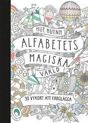 Alfabetets magiska värld – 30 vykort att färglägga