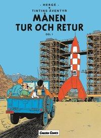 Tintin 16 : M�nen Tur Och Retur. Del 1 (h�ftad)