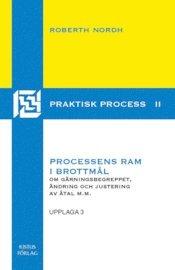 Processens ram i brottm�l : om g�rningsbegreppet, �ndring och justering i �tal m.m. (h�ftad)