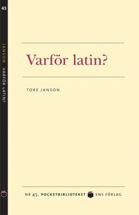Varf�r latin? (pocket)
