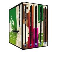 Moderna utl�ndska klassiker (box) De besatta ; Glaskupan ; Hundra �r av ensamhet ; Moment 22 ; �lskaren (kartonnage)