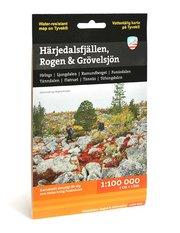 Härjedalsfjällen Rogen & Grövelsjön (1:100 000)