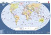Världen – Skrivbordsunderlägg med politisk världskarta