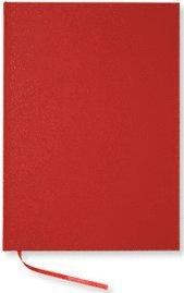 NoteBook textil linjerad röd A4